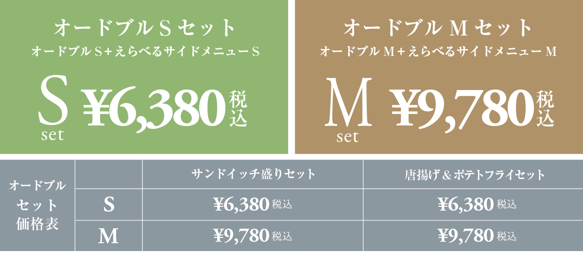 オードブルセット 鳥取市のテイクアウト 盛皿メニュー